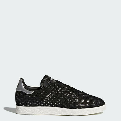 Adidas BY9363 Women Gazelle Running shoes black silver Sneakers