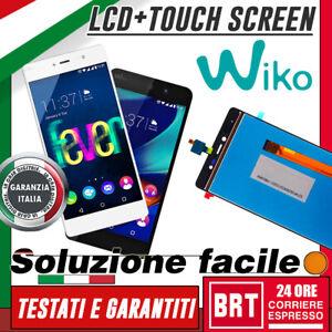 LCD-TOUCH-SCREEN-DISPLAY-PER-WIKO-FEVER-4G-NERO-ASSEMBLATO-VETRO-SCHERMO-TOP-24H