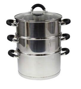 24-cm-en-Acier-Inoxydable-Cuiseur-vapeur-avec-couvercle-en-verre-multi-FOOD-COOK-Pot-Pan-Set-3