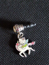 Hello Kitty  Unicorn Riding free Cell Phone Strap Plug charm Fits most