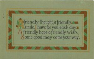 Arts-Crafts-Friendly-Motto-Artist-impression-Postcard-12459
