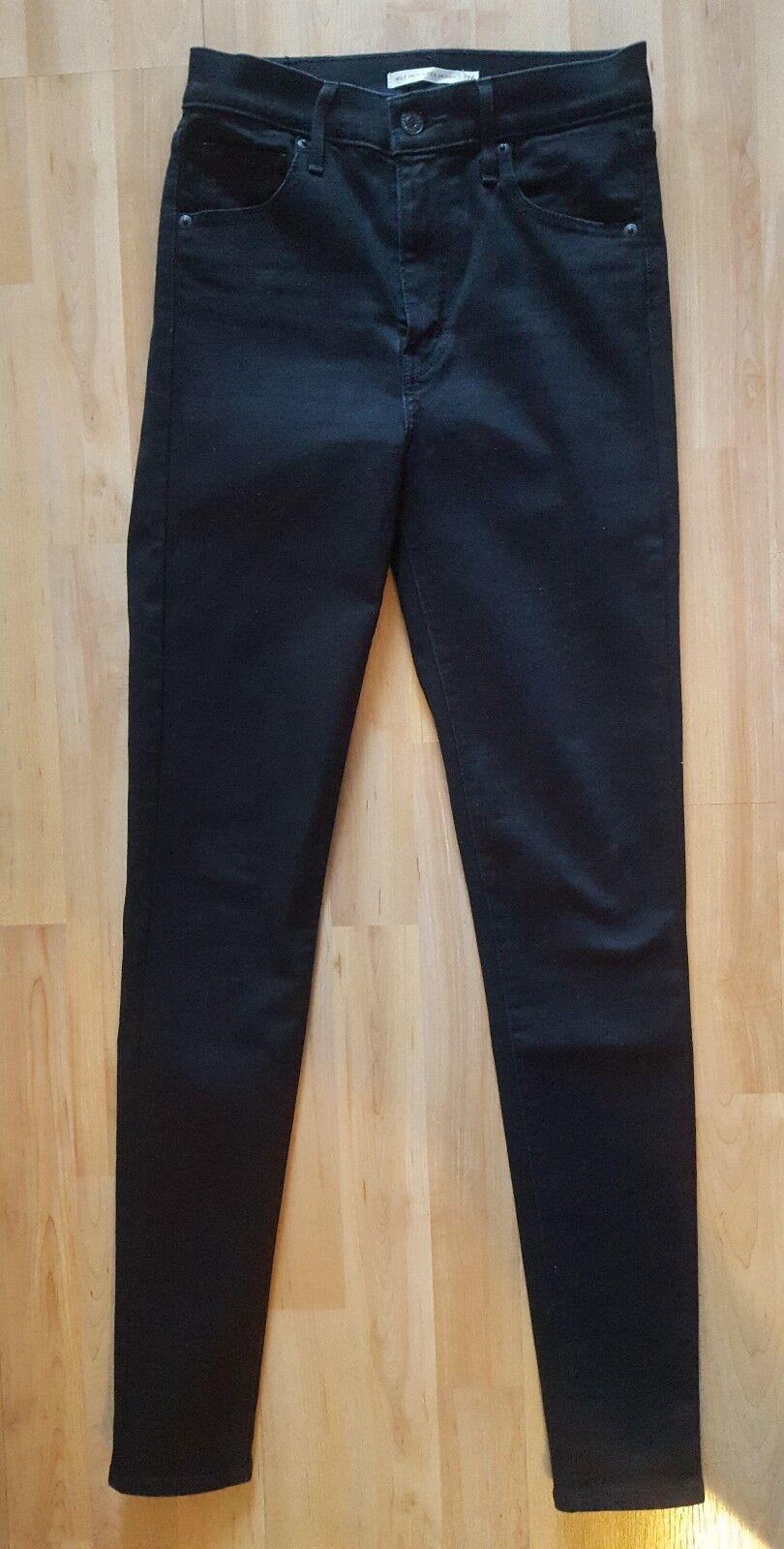 Damen Jeans Mile High Super Skinny Schwarz Gr. 26 30 NEU