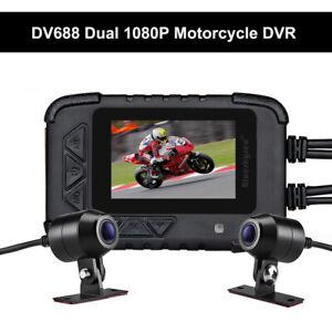 Blueskysea-DV688-Motorrad-Fahrrad-G-Sensor-Recorder-DVR-Camcorder-Doppelobjektiv