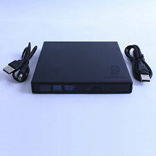 USB Slim External Case Enclosure For 12.7mm SATA CD DVD RW Burner Optical Drive