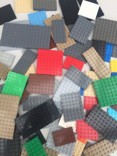 LEGO 15 x Base Plates Boards Strips Bases Mixed Colours Great for Sets