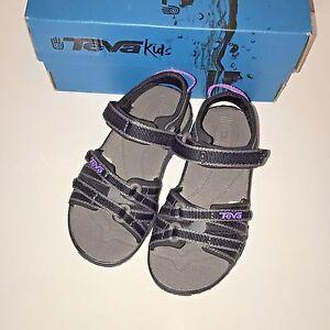 f33fe3923747e Teva Tirra 8 M Toddler Sandals Shoe Little Kid Black Grey Purple ...