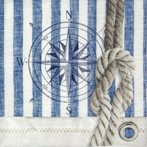 Papel 4x Servilletas Para Decoupage Decopatch Craft Brújula /& Cuerda