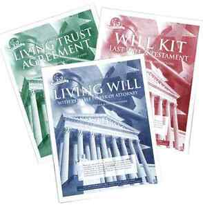 Legal Last Will Testament Kit Do It Yourself DIY Paper Forms ...