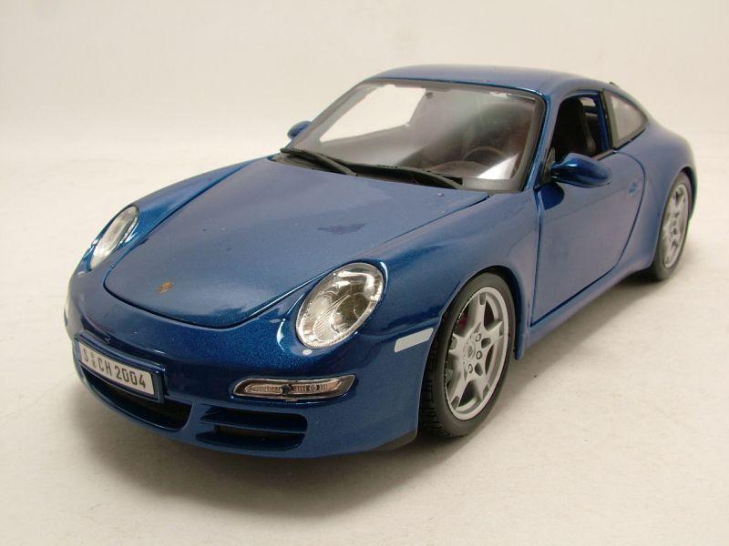 Porsche 911 (997) Carrera S bleu, Modèle de voiture 1 18   Maisto