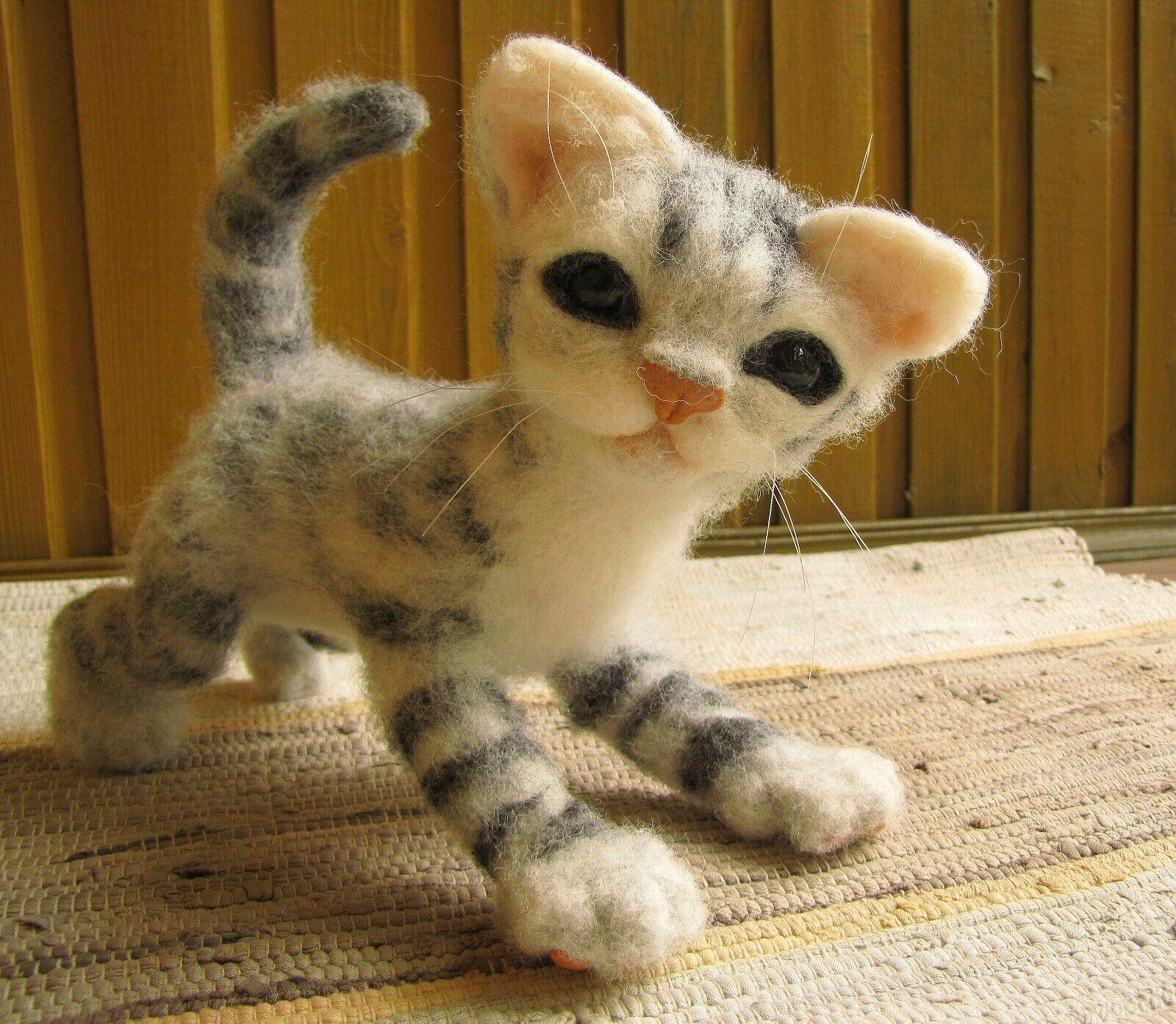 Unusual Toy,Cat  Sammy ,Felting.ONLY ONE. OOAK.