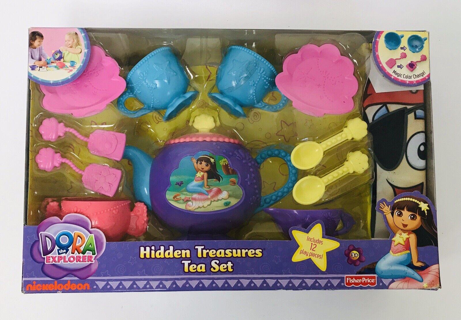 2011 Fisher Price Dora The Explorer Hidden Treasures Tea Set NEW