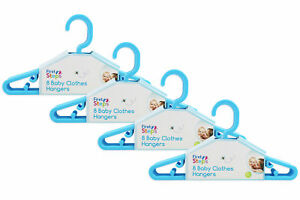 First-Steps-Pack-of-8-Baby-Clothes-Hangers-in-assorted-colours-8-16-24-32-pack