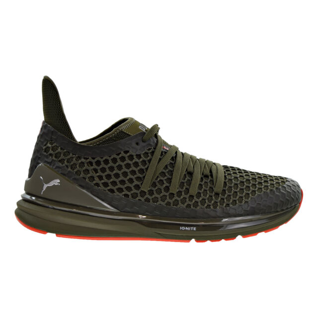 low priced 4a33e b6537 Puma Ignite Limitless Netfit Men's Shoes Olive Night/Cherry Tomato 189983-03