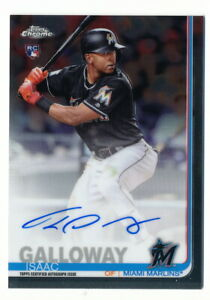 ISAAC-GALLOWAY-RC-2019-TOPPS-CHROME-ROOKIE-AUTO-MARLINS