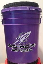 "Custom 5gl Dugout Bucket w/ 2"" Pad, Softball Baseball Fishing Football"