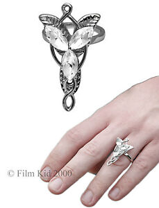 Arwen-Evenstar-Necklace-RING-Pendant-Power-Hobbit-LOTR-Lord-Of-The-Rings-Silver