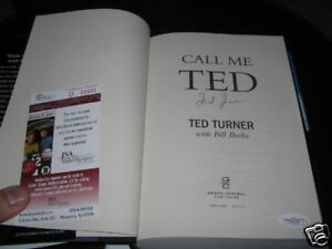 TED TURNER CALL ME TED JSA/COA SIGNED BOOK