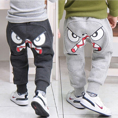 ALS Popular Kids Boys Girls Clothes Harem Pants Baby Cartoon Trousers 2Y8Y Opt