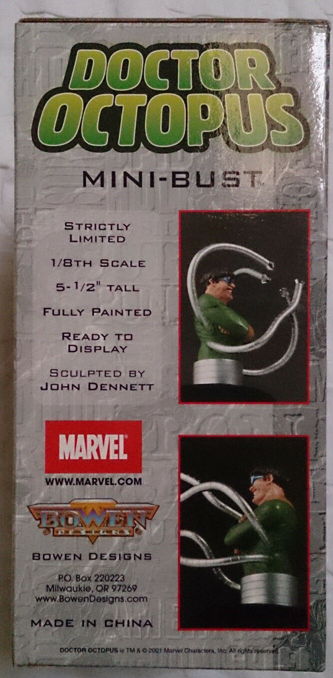 MARVEL COMICS Bowen SPIDER-MAN DOCTOR DOCTOR DOCTOR OCTOPUS mini busto statua con scatola 738094