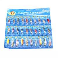 Lot 30 PCS Minnow Baits Fish Tackle Kinds of Fishing Lures Crankbaits Hooks