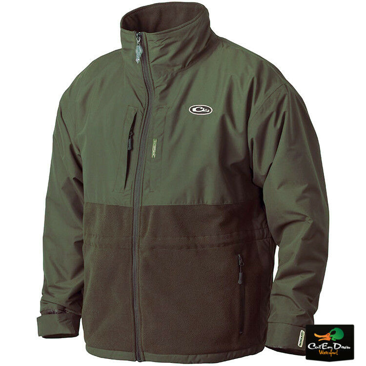 Drake Waterfowl eqwader Plus Full Zip chaqueta Abrigo Camisa verde Oliva pequeñas
