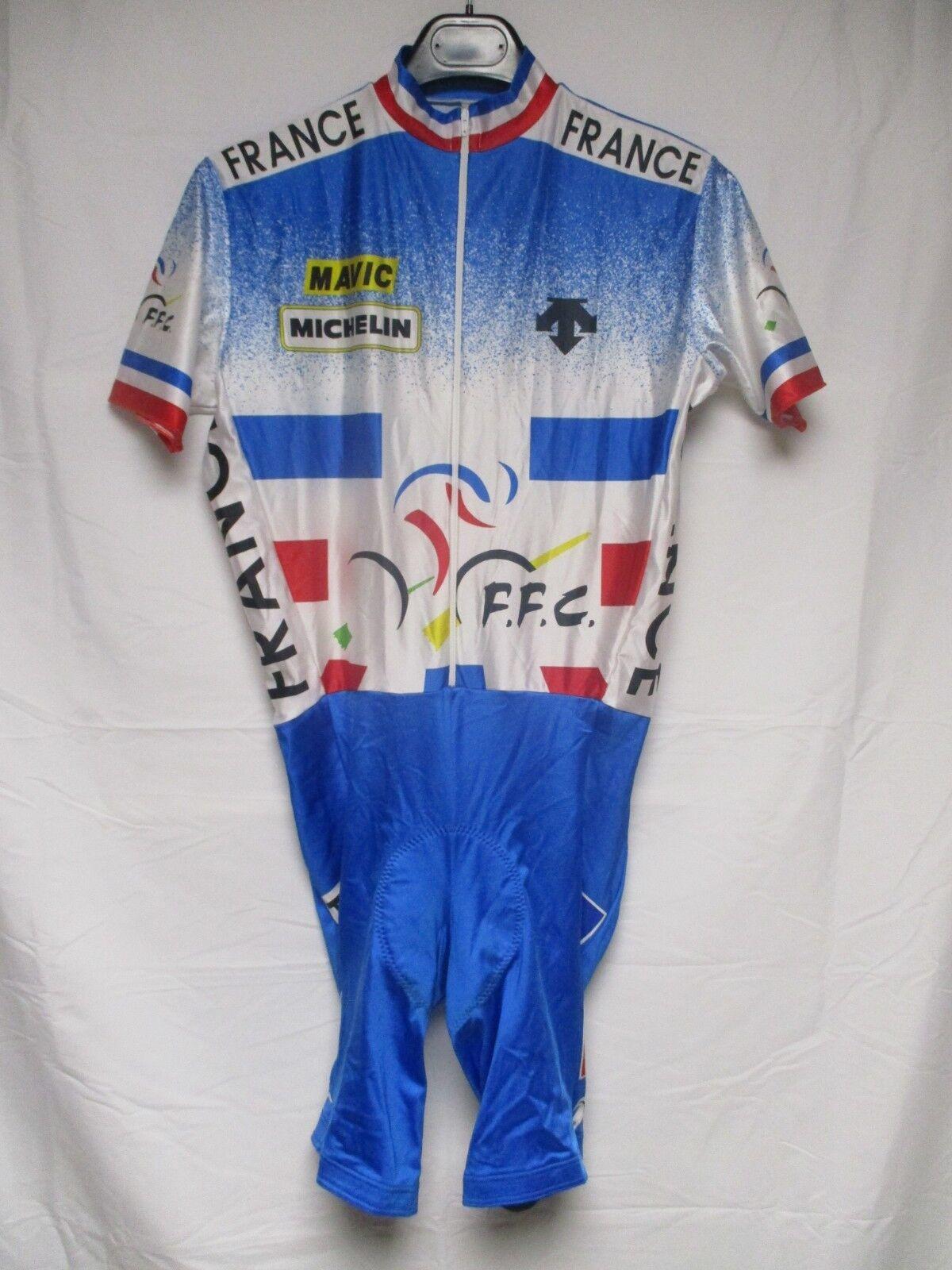 Maillot intégral combi cuissard cycliste EQUIPE DE FRANCE Descente shirt 4 L