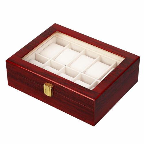 Uhrenbox Uhrenkoffer Für 3-24 Uhren Uhrentruhe Uhrenkasten Uhrenschatulle NEU