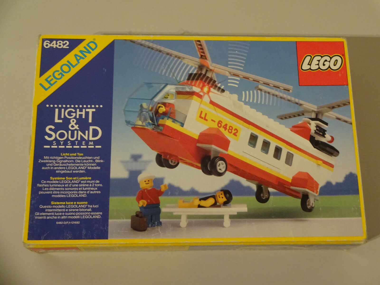 (TB) Legole 6482 Elicottero di Soccorso Rescue  Helicopter con OVP & Ba NUOVO  stanno facendo attività di sconto