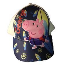 PEPPA PIG cappellino con visiera bianco e blu con stampa da bambino regolabile