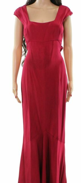 Narciso Rodriguez Red Women's US Size 42 US 6 Crossover Gown Silk $2995- #173