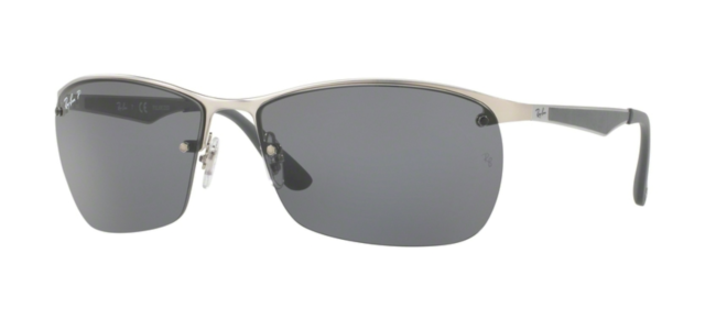 Sonnenbrille Sonnenbrille RAY-BAN RB 3550 019/81 matte Silver - 64 polarized