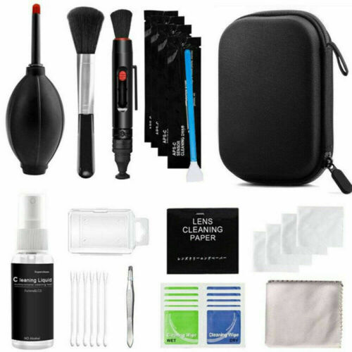10 in 1 Portable Pro Camera Lens Cleaning Cloth Retracted Brush Cotton Swab Kit