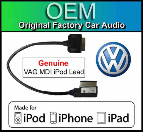 Genuino VAG MDI Kit de medios de plomo VW RNS 510 Ipod Iphone Ipad Cable