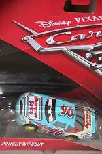 """DISNEY PIXAR CARS 3 """"#90 PONCHY WIPEOUT...A.K.A. BUMPER SAVE"""" W/ YELLOW RIMS"""