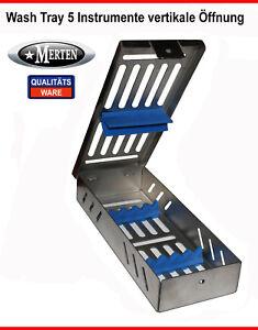 5-Instrumente-Containerkassette-vertikale-Offnung-Tray-Wash-Tray