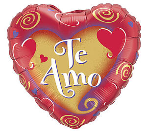 Image Is Loading TE AMO 18 034 BALLOON VALENTINES DAY SPANISH