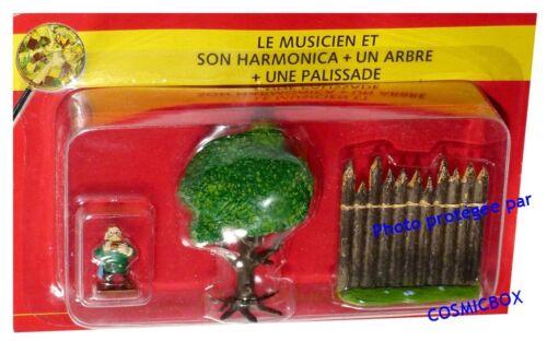 Le VILLAGE d/'ASTERIX n° 46 figurine en plomb musicien harmonica Atlas PLASTOY
