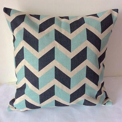 Zig Zag Geometries Cotton Linen Cushion Cover Throw Pillow For Home Decor S2266
