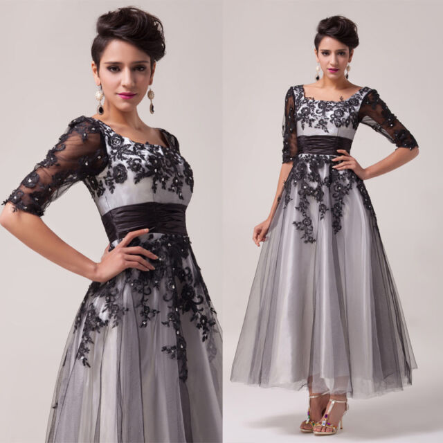 2014 Lace Tulle Ball Gown Evening Cocktail Party Prom Formal Dress Stock SZ:2-16