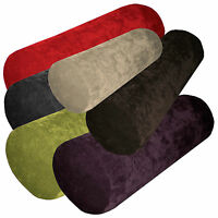 ma+6 Plain Colors Velvet Style Bolster Yoga Case Roll Cushion Cover Custom Size
