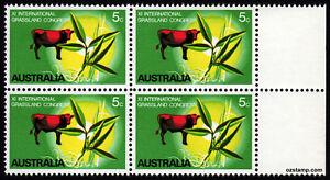 1970-Grasslands-Congress-BW521d-Flaw-MUH-Block-of-4-SG458-Mint-Australia-Stamps