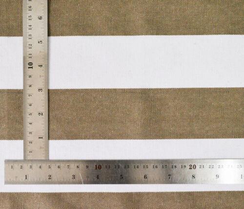 Pillow Cover*Stripes Cotton Canvas Sofa Seat Pad Cushion Case Custom Size*AK3