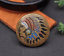 Antique-Brass-Southeast-Ethnic-Indian-Head-Turquoise-Leathercraft-Belt-Conchos miniature 2