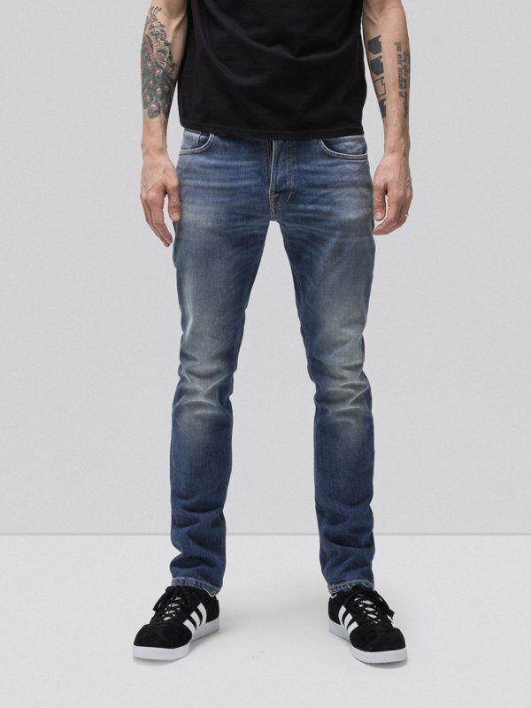 Nudie 'GRIM TIM-congiunzioni' s blu Jeans Gamba Dritta Prezzo consigliato  .00