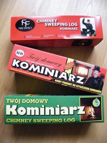 Registro de limpieza chimenea 2x barredora de humos hollín y limpiador de chimenea en caja roja