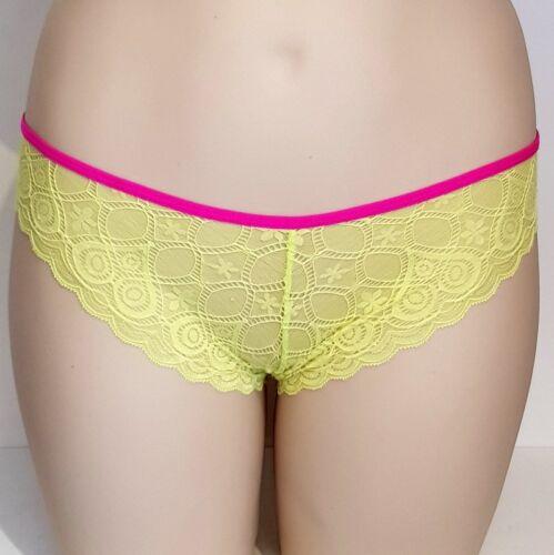 Hunkemöller Slip Panty Hipster Spitze neon gelb Gr L #HM17