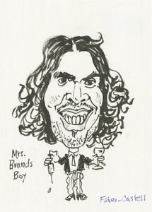 Terry Shelbourne (1930-2020) - Contemporary Pen and Ink Drawing, Russell Brand