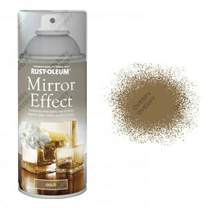 x13 Rust-Oleum Mirror Effect Spray Paint Gold Gloss Finish Art And Craft 150ml