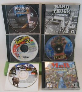PC-Game-Tycoon-Lot-of-6-Games-Tycoon-Gamer-039-s-Dream-Lot