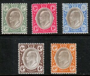 South-Africa-and-Territories-KEVII-1904-Transvaal-Part-Set-Mint-Hinged-MH
